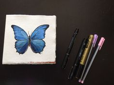 Hand painted butterfly sketchpad