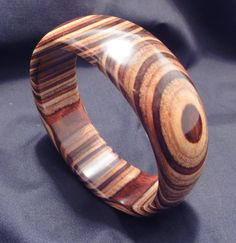 Multi Colored Dymondwood Bangle Wide by Woodsmithjewelers on Etsy, $17.00