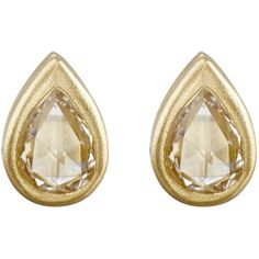 Tate Women's Pear-Shaped Studs (73.480 RUB) ❤ liked on Polyvore featuring jewelry, earrings, no color, post back earrings, studded jewelry, earring jewelry, 18 karat gold stud earrings and stud earrings