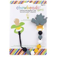 "The Chewbeads Dinosaur ""Where's the Pacifier?"" Clip easily attaches to your little one's clothes so their pacifier doesn't get lost or fall on the floor. Some of the beads even glow in the dark, so it's easy to find the clip at night. Baby Nursery Furniture, Nursery Room Decor, Teething Pacifier, Baby Aspen, Baby Dinosaurs, The Good Dinosaur, Everything Baby, Baby Registry, Baby Boy Shower"