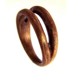 5th Anniversary Ring - Hand Carved Wood Ring