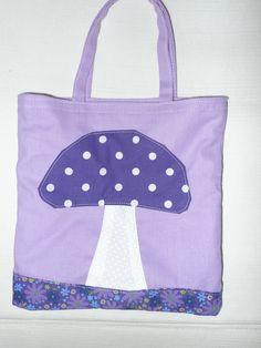 patchwork kids bag mushroom