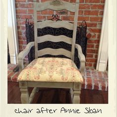Dining room chair updated with Annie Sloan paint & wax