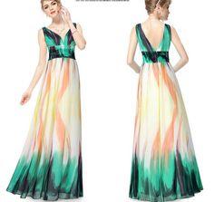 Günstige Kleider Für Hochzeitsgäste, Die Farbkombination Ist Sehr Interessant Und Schönes Langes Kleid, Kann Bei Formellen Anlässen Getragen Werden, Es Ist Billig
