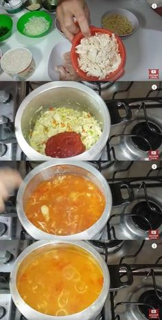 Canja de Galinha #canja #canjadegalinha #receitadecanja #almoço Pasta, Palak Paneer, Food And Drink, Low Carb, Soup, Pudding, Cooking, Healthy, Ethnic Recipes