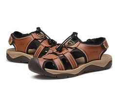 Men's Strap Sport Sandals Close Toe Beach Athletic Boating Shoes