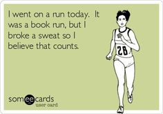 I went on a run today, a book run.