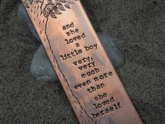 Shel Silverstein The Giving Tree Quote Bookmark - And She Loved A Little Boy... - Purple Pelican Designs