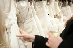 Who doesn't want to browse through gorgeous gowns while sipping on champagne?