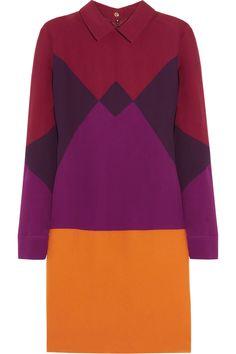 Victoria, Victoria Beckham|Harlequin crepe dress|NET-A-PORTER.COM