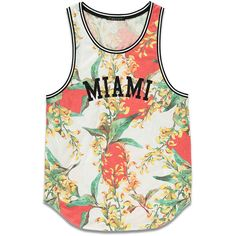 Forever 21 Men's Floral Print Jersey Tank (42 BRL) ❤ liked on Polyvore featuring men's fashion, men's clothing, men's shirts, men's tank tops, shirts, tops, tanks, mens snap button shirts, flower print mens shirt and mens basketball jerseys