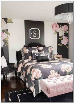 With the new school year approaching comes the mad dash to find the perfect dorm room decor and accessories to Cute Bedroom Ideas, Girl Bedroom Designs, Room Ideas Bedroom, Home Bedroom, Living Room Designs, Girls Bedroom Decorating, Modern Bedroom, Bed Room, Master Bedroom