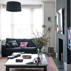 Black and white living room | Living room idea | housetohome.co.uk