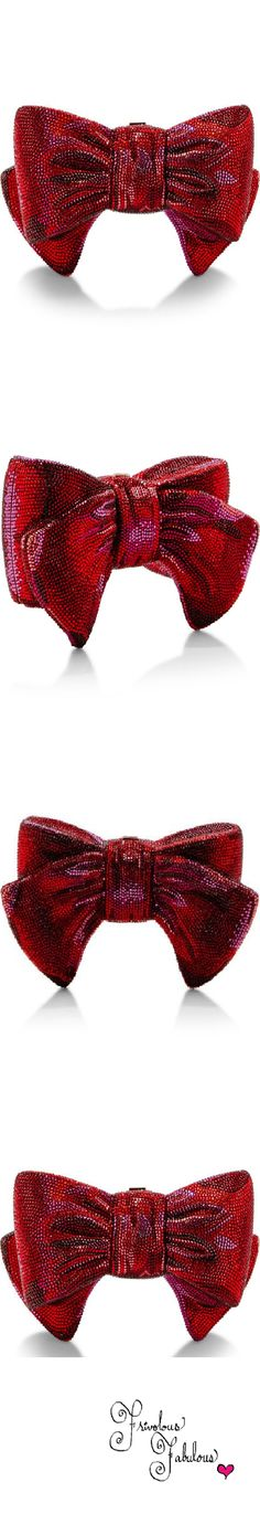 Judith Leiber Crystal Red Bow Clutch