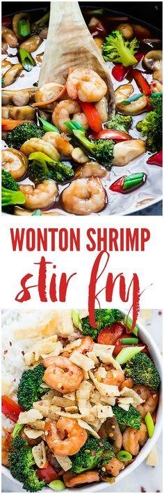 Pork and Ginger Wonton Stir-Fry   Recipe   Wontons, Pork and Stir Fry