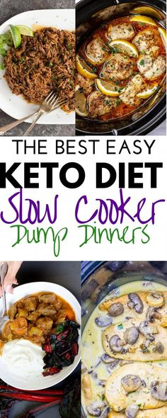 Slow Cooker Keto Recipes, Low Carb Slow Cooker, Low Carb Dinner Recipes, Keto Dinner, Dinner Healthy, Dinner Crockpot Recipes, Slow Carb Diet, Crockpot Low Carb Meals, Slow Cooker Dinners