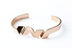 Gabarit Bracelet | Rose Gold | DV JEWELLERY | www.daniellevroemen.com #rosegold #bracelet #jewellery #geometric
