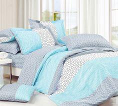 Buy Queen Comforters Dove Aqua Queen Comforter - Best Comforters