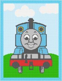 Thomas the Train Engine Afghan Blanket Crochet Pattern