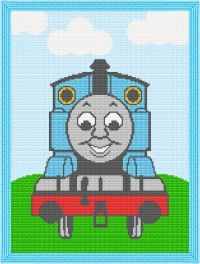 Thomas the Train Engine Afghan Blanket Crochet Pattern