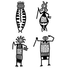Siebdruck Petroglyph Menschen Nr. 95 von SilkScreenStudio auf Etsy Antonio Francisco Lisboa, Native American Symbols, Aboriginal Art, Native Art, Tribal Art, Ancient Art, Rock Art, Doodle Art, Doodles