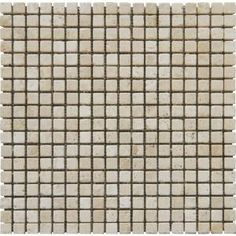 Tuscany Beige 5/8 in. x 5/8 in. Mosaic Tumbled Travertine Floor & Wall Tile-SMOT-TUS-5/8-T at The Home Depot