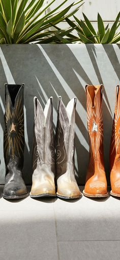 Fall 2018 Trend Western Style: One of this season's most pervasive looks, the western trend, is making a carry through to the Fall. Cool Boots, Women's Boots, Combat Boots, Ankle Boots, Fall 2018, Vivid Colors, Westerns, Lace Up, Pairs