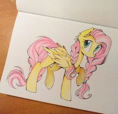 I tried to draw fluttershy Mlp My Little Pony, My Little Pony Friendship, My Little Pony Drawing, Rainbow Dash, Comic Collage, Chibi, Little Poni, Mlp Characters, Mlp Fan Art