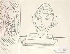 Greek Goddess, By Françoise Gilot (French, born Pencil on paper. Francoise Gilot, Modernist Movement, Fauvism, Coming Of Age, French Artists, Mythology, Original Artwork, Greek, Artsy