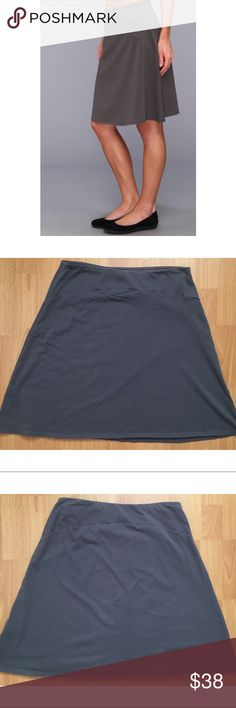 Patagonia Gray Skirt Cute gray colored skirt by Patagonia. Extremely soft fabric. Cotton/ Spandex Blend. Patagonia Skirts