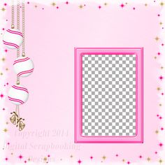 "Layout QP 1E-5 Pink.....Quick Page, Digital Scrapbooking, Christmas Time Collection, 12"" x 12"", 300 dpi, PNG File Format"