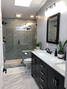 Let us recreate this Luxury Bathroom Renovation for you in Columbus,Ga. Bathroom… Let us recreate this Luxury Bathroom Renovation for you in Columbus,Ga. Bathroom Design Luxury, Modern Bathroom, Dark Vanity Bathroom, Dark Cabinets Bathroom, Bathroom Countertops, Minimalist Bathroom, Bath Design, Contemporary Small Bathrooms, Dark Wood Bathroom