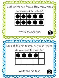 Friends of Ten Scoot: Freebie! by Primary Fresh Math Talk, Math 2, Math Tutor, 1st Grade Math, Kindergarten Math, Math Games, Teaching Math, Grade 1, Second Grade
