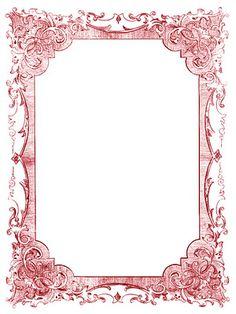 *The Graphics Fairy LLC*: Vintage Clip Art - Romantic Frames - Christmas Colors