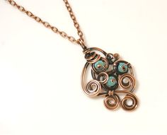 Turquoise Necklace December Birthstone Necklace by BeyhanAkman