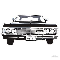 #Impala #67 #supernatural #dean #winchester #sam #castiel #spn #redbubble #design #vector #photoshop #kansas