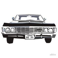 #Impala #67 #supernatural #dean #winchester #sam #castiel #spn #redbubble #design #vector #photoshop #kansas