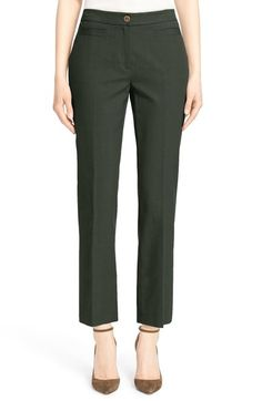 Ankle crop pants from Nordstrom Signature and Caroline Issa and angle-strapped pumps make a great work-to-wherever combo