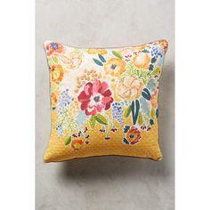 Anthropologie Logann Pillow ($88) via Polyvore featuring home, home decor, throw pillows, yellow, anthropologie home decor, anthropologie, yellow throw pillows, yellow accent pillows and yellow home decor