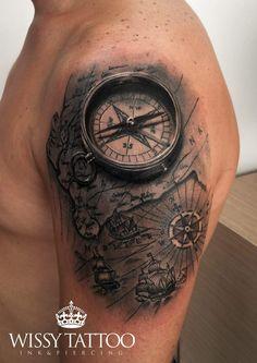 #WISSY TATTOO #sevilla #spain #manulopez #tattoo #tattooed #tatuaje #ink #inked #instatattoo #tattooart #tattooartist #tattooed #brujula #mapa #compass #map #antique #andalucia www.wissytattoo.com