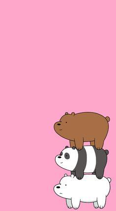 Wallpaper We Are Bare Bears - We Bare Bear - Cute Bears Wallpaper Cute Panda Wallpaper, Funny Phone Wallpaper, Disney Phone Wallpaper, Bear Wallpaper, Kawaii Wallpaper, Cute Wallpaper Backgrounds, Cartoon Wallpaper, Pastel Wallpaper, We Bare Bears Wallpapers