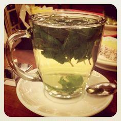 Мам, пил чай в Ароме с мятой!