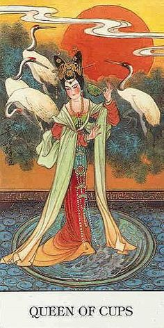 Queen of Cups - Chinese Tarot by Jui Guoliang Chinese