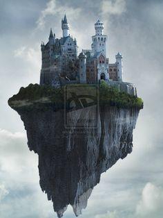 fantasy flying castles - Google Search