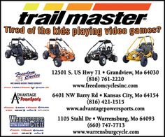 Get the kids off the couch and into the outdoors with Trail Master!!  // For more family resources visit www.ifamilykc.com! :)