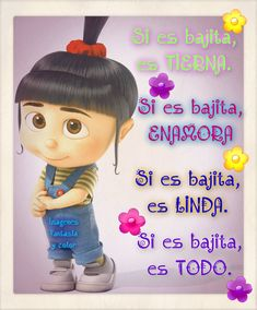Agnes Despicable Me, Spanish Greetings, Love Quotes Funny, Thank You God, Cute Disney Wallpaper, Funny Relationship, Have A Great Day, Friendship, Memes