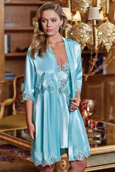 Pyjama Satin, Satin Nightie, Silk Chemise, Satin Sleepwear, Satin Gown, Satin Dresses, Nightwear, Blue Lingerie, Pretty Lingerie