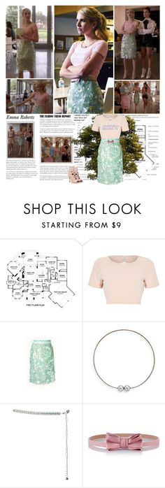 """Emma Roberts as Chanel Oberlin { Scream Queens - 1.04 Haunted House }"" by albacampbell ❤ liked on Polyvore featuring Episode, River Island, Cara, RED Valentino and Daizy Shely"