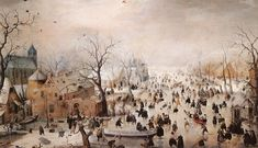 "painting box: January 2011 - Hendrick Avercamp ""Winter Landscape with Ice Skaters"", I saw this last summer at the Rijksmuseum in Amsterdam. Rembrandt, Arte Online, Jan Van Eyck, Dutch Golden Age, Ice Skaters, Winter Painting, Painting Holidays, Dutch Painters, Dutch Artists"