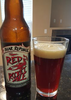 Bear Republic Red Rocked (American Amber / Red) Ale is 6.8 ABV.  The appearance is amber red and the nose sweet biscuity and caramel malt.  The flavor follows, sweet amber malts with a solid bitter hop presence on the finish.  This has great depth of flavor for a variety that can be run of the mill, and the mouthfeel and texture also show a depth of character.  This is a top notch amber that has all those easy drinking characteristics but with rewarding complexity and hop presence…